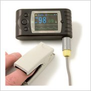 Pulse Oximeter Finger Model Black
