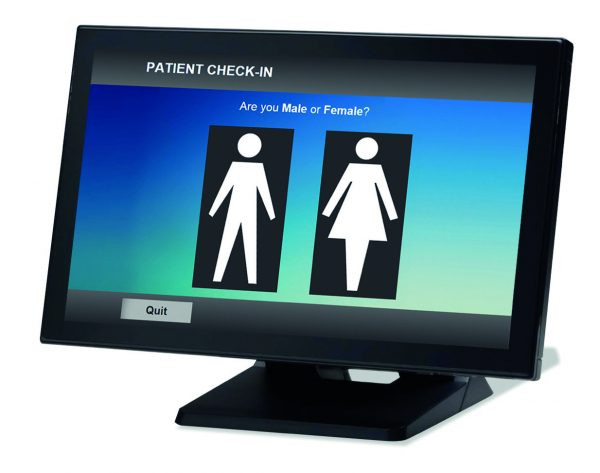Touchscreen patient self check in