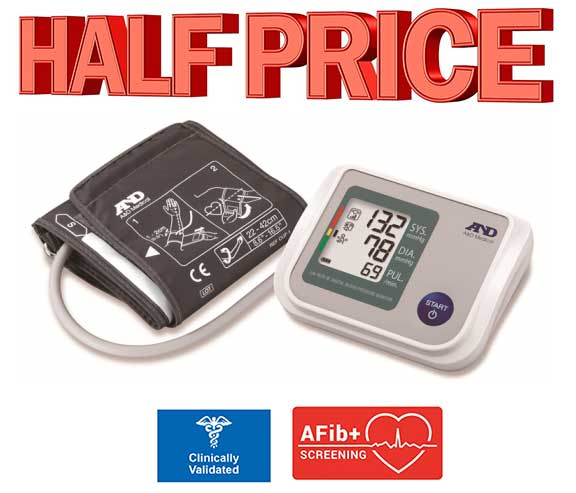 Blood pressure monitor with afib