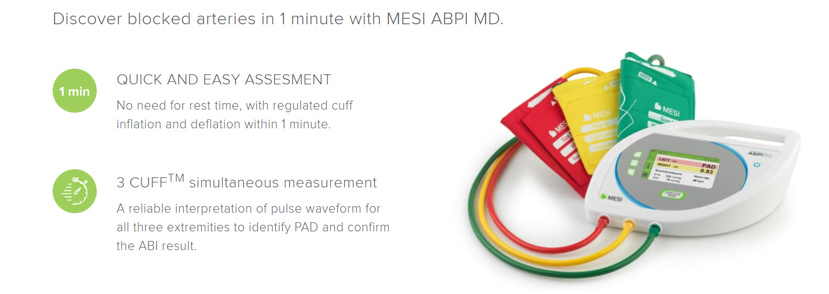 Measure ABI with MESI ABPI MD