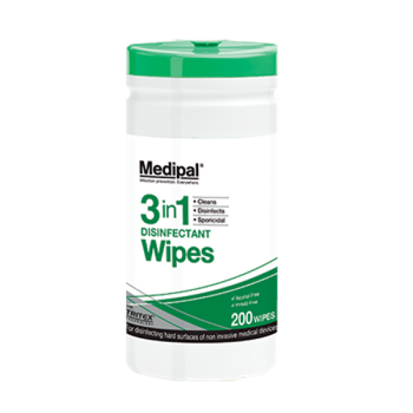 Medipal 3 in1 Disinfectant wipes 200 wipes
